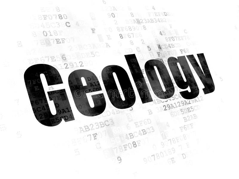 Έννοια επιστήμης: Γεωλογία στο ψηφιακό υπόβαθρο ελεύθερη απεικόνιση δικαιώματος