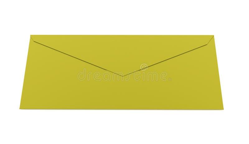 Έννοια επιστολών φακέλων που δίνεται στο λευκό απεικόνιση αποθεμάτων