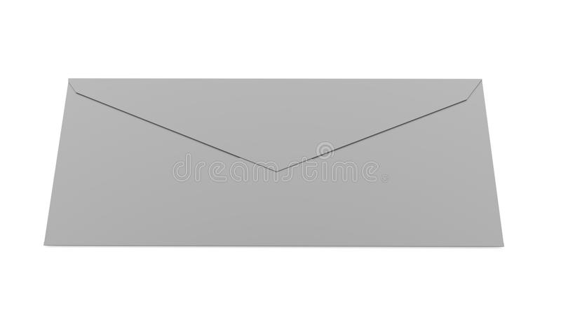 Έννοια επιστολών φακέλων που δίνεται στο λευκό διανυσματική απεικόνιση