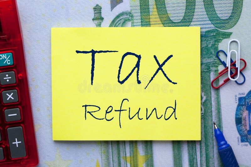 Έννοια επιστροφής φόρου στοκ φωτογραφία με δικαίωμα ελεύθερης χρήσης