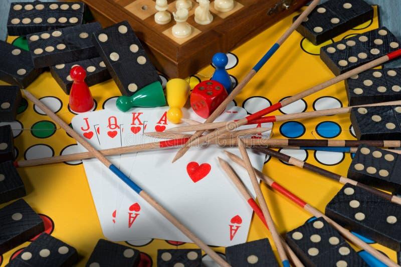 Έννοια επιτραπέζιων παιχνιδιών στοκ εικόνες
