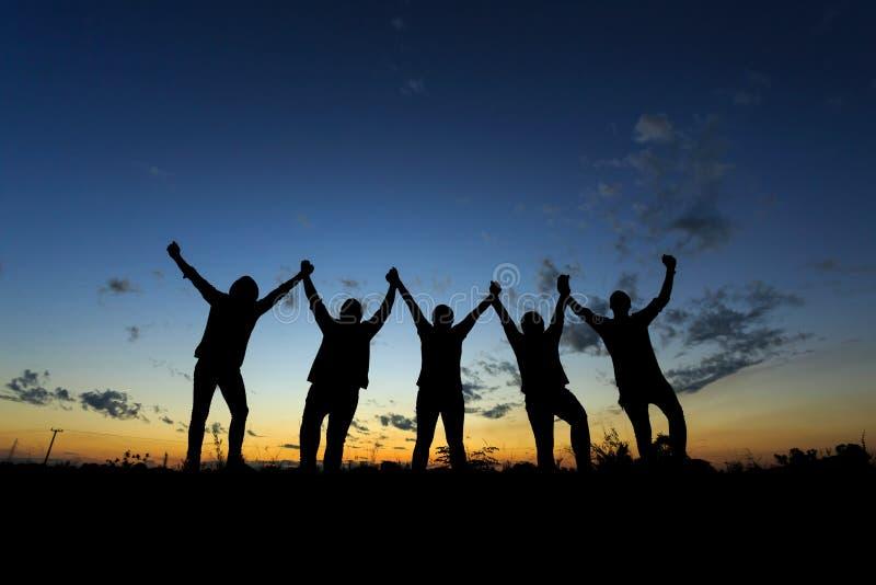 Έννοια επιτυχίας κόμματος εορτασμού επιχειρησιακής ομάδας στοκ φωτογραφία