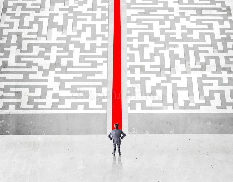 Έννοια επιτυχίας με την κόκκινη πορεία στοκ εικόνα με δικαίωμα ελεύθερης χρήσης