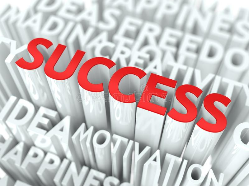 Έννοια επιτυχίας. απεικόνιση αποθεμάτων