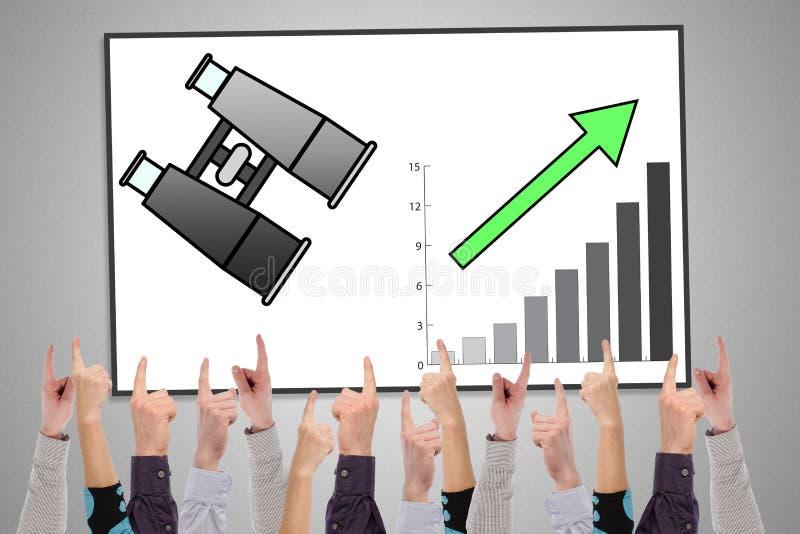Έννοια επιχειρησιακής προοπτικής σε ένα whiteboard ελεύθερη απεικόνιση δικαιώματος