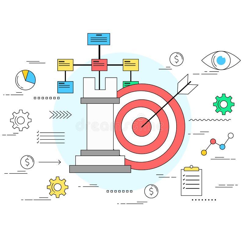 Έννοια επιχειρησιακής στρατηγικής και προγραμματισμού ελεύθερη απεικόνιση δικαιώματος
