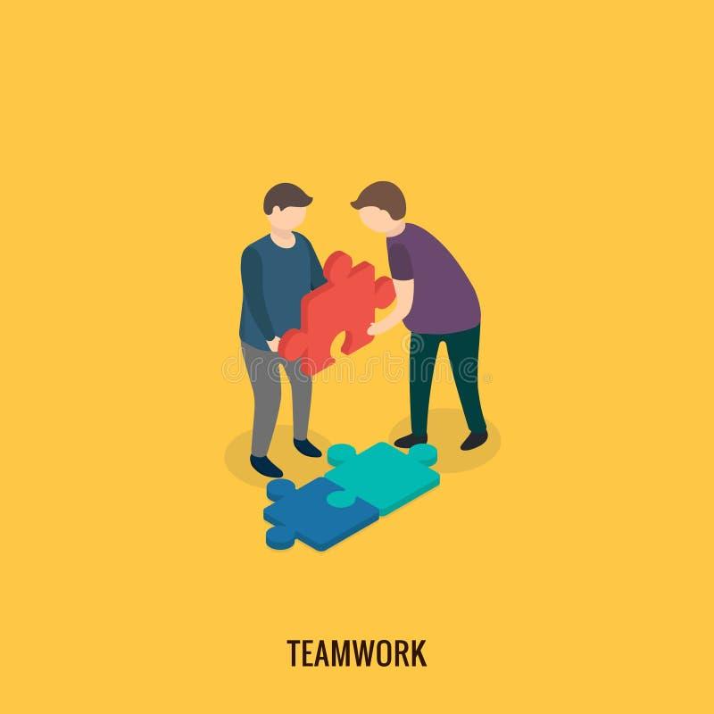 Έννοια επιχειρησιακής λύσης, ομαδική εργασία διανυσματική απεικόνιση