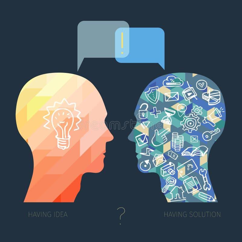 Έννοια επιχειρησιακού διαλόγου απεικόνιση αποθεμάτων