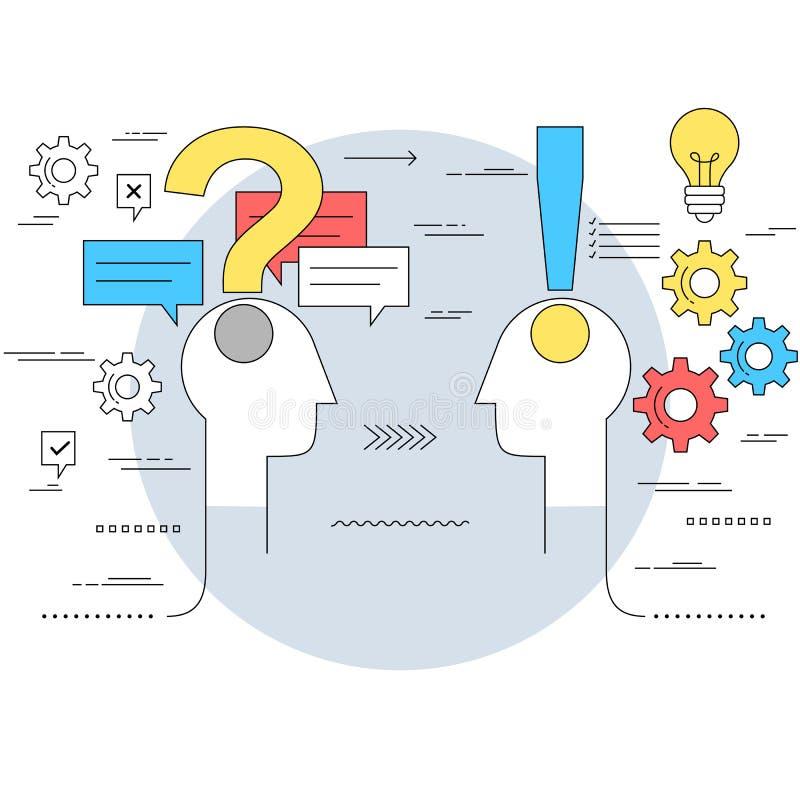 Έννοια επιχειρησιακών επικοινωνιών και συμβουλής από ειδήμονες απεικόνιση αποθεμάτων