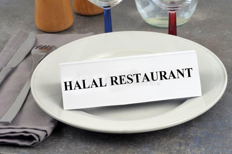Έννοια εστιατορίων Halal στοκ εικόνες με δικαίωμα ελεύθερης χρήσης