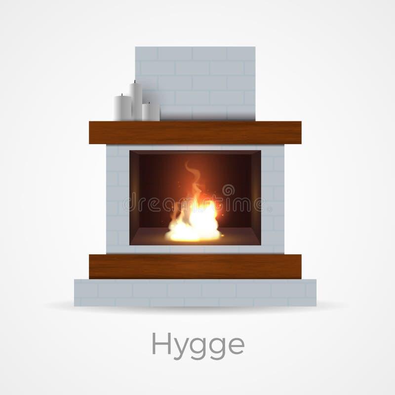 Έννοια εστιών Hygge διανυσματική απεικόνιση