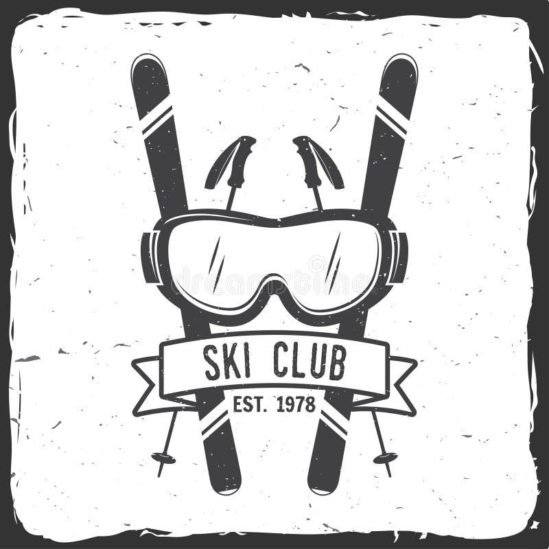 Έννοια λεσχών σκι με το σκιέρ ελεύθερη απεικόνιση δικαιώματος