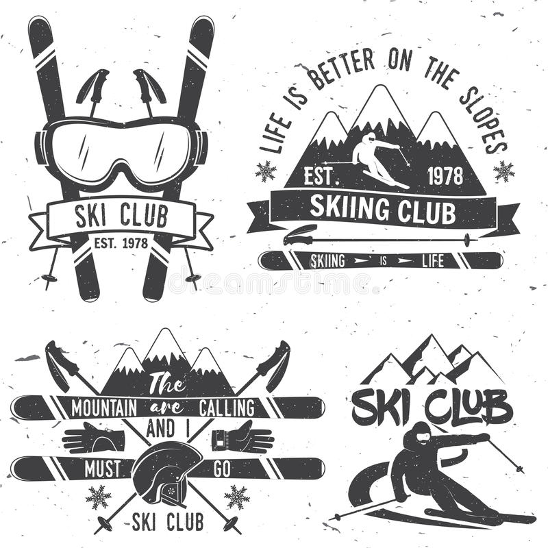 Έννοια λεσχών σκι απεικόνιση αποθεμάτων