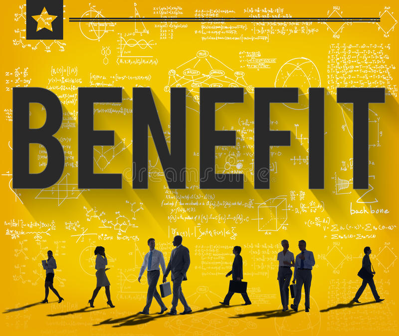 Έννοια ευημερίας πλεονεκτήματος εισοδηματικού κέρδους οφελών ελεύθερη απεικόνιση δικαιώματος