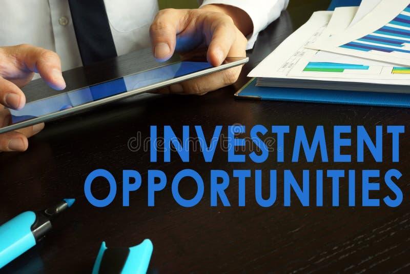 έννοια ευκαιριών επένδυσης στοκ φωτογραφία με δικαίωμα ελεύθερης χρήσης
