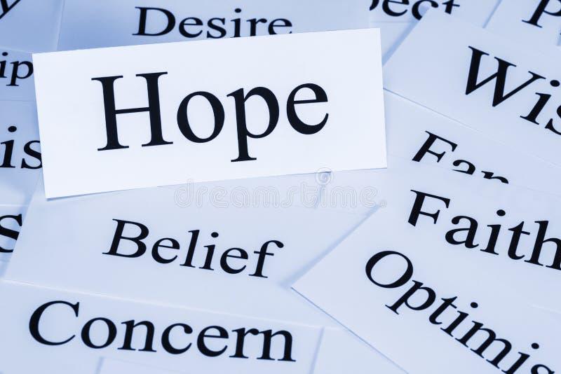 Έννοια ελπίδας στοκ εικόνα
