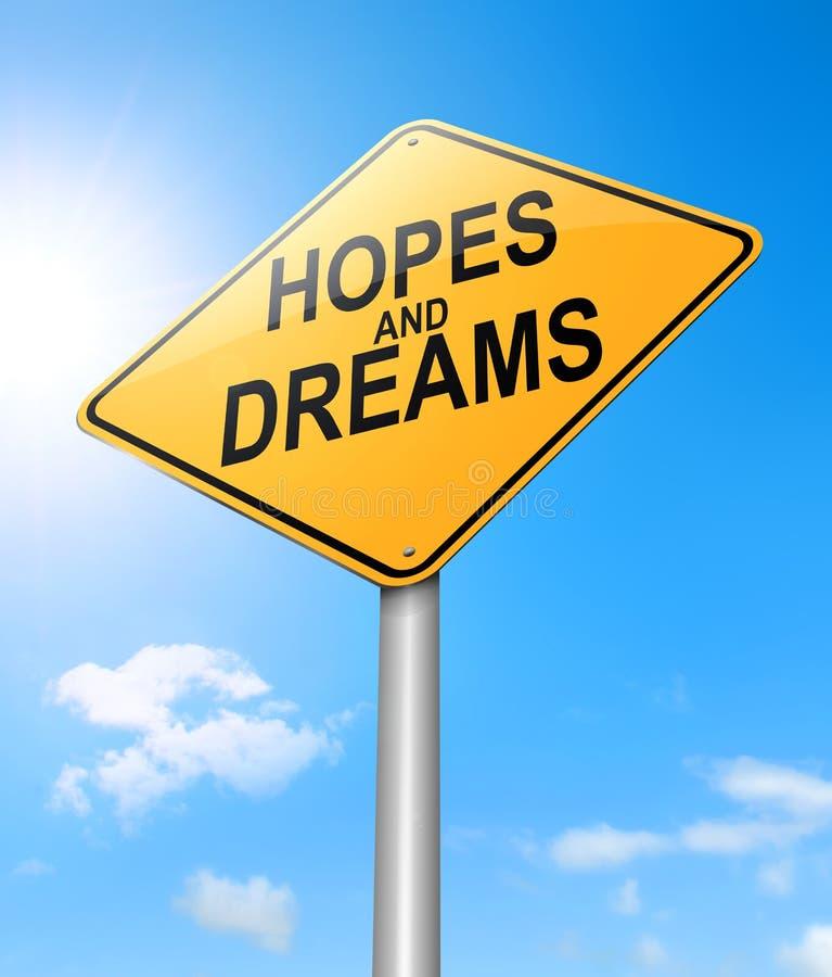 Έννοια ελπίδων και ονείρων διανυσματική απεικόνιση