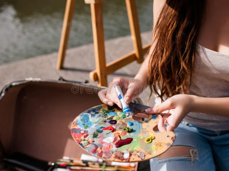 Έννοια ζωγράφων καλλιτεχνών ποικιλομορφίας κατατάξεων μελανιών στοκ φωτογραφία με δικαίωμα ελεύθερης χρήσης