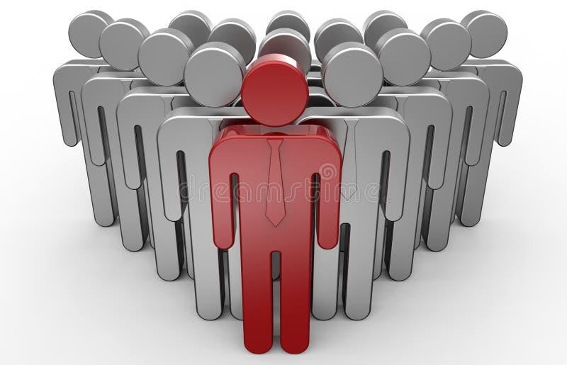 Έννοια ηγεσίας ανθρώπων στοκ εικόνα με δικαίωμα ελεύθερης χρήσης