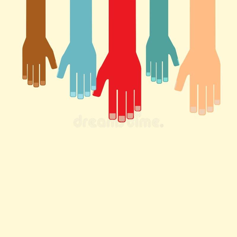 Έννοια ηγεσίας διεθνής συνεργασία Διανυσματικό illustrati απεικόνιση αποθεμάτων