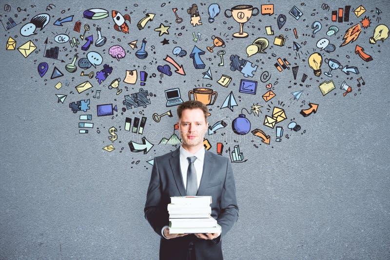 Έννοια ηγεσίας και εκπαίδευσης στοκ εικόνα