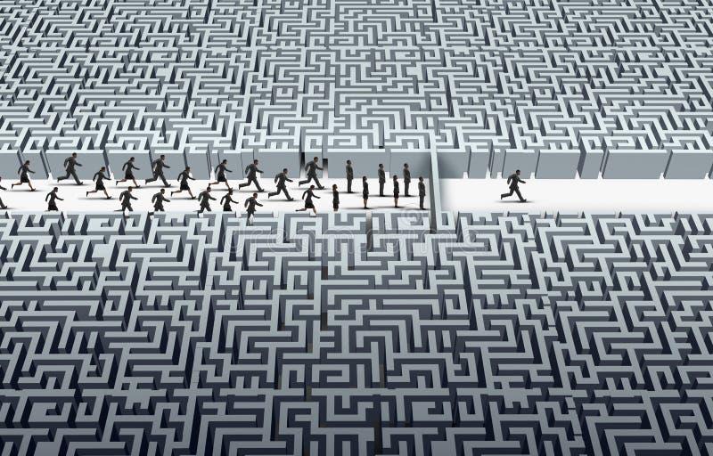 Έννοια ηγεσίας πρόκλησης διανυσματική απεικόνιση