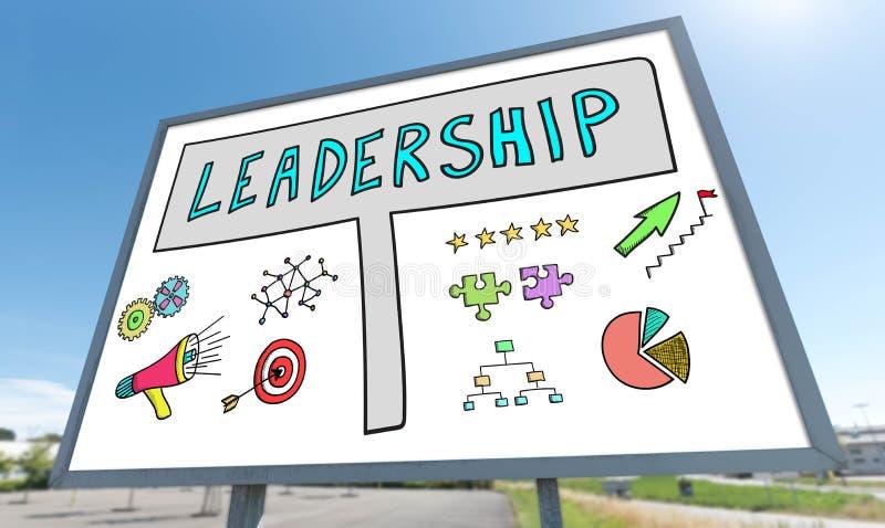 Έννοια ηγεσίας σε έναν πίνακα διαφημίσεων στοκ φωτογραφίες με δικαίωμα ελεύθερης χρήσης