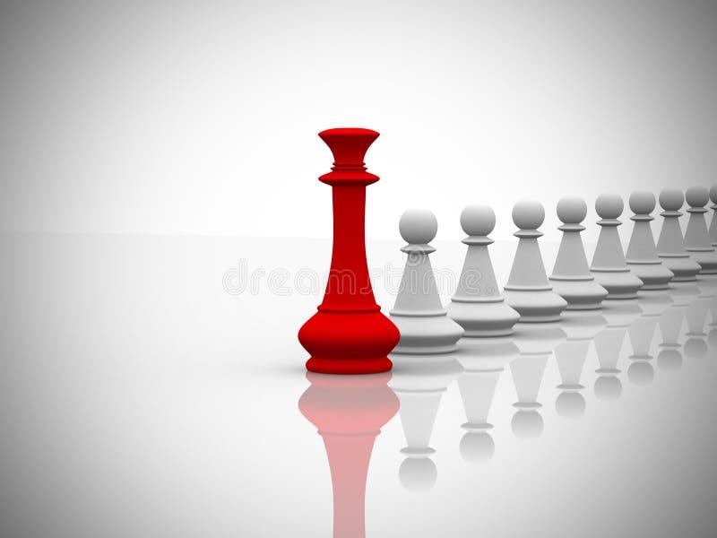 Έννοια ηγεσίας - τρισδιάστατη δώστε ελεύθερη απεικόνιση δικαιώματος