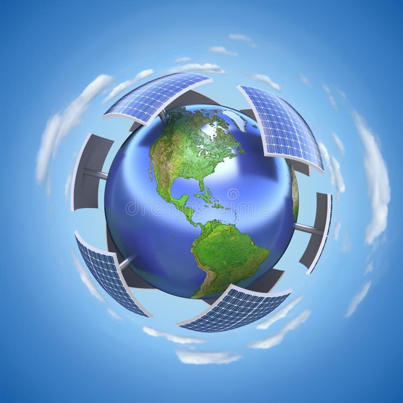 Έννοια ηλιακής ενέργειας ελεύθερη απεικόνιση δικαιώματος