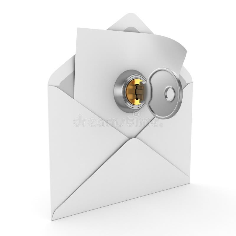 Έννοια ηλεκτρονικού ταχυδρομείου διανυσματική απεικόνιση