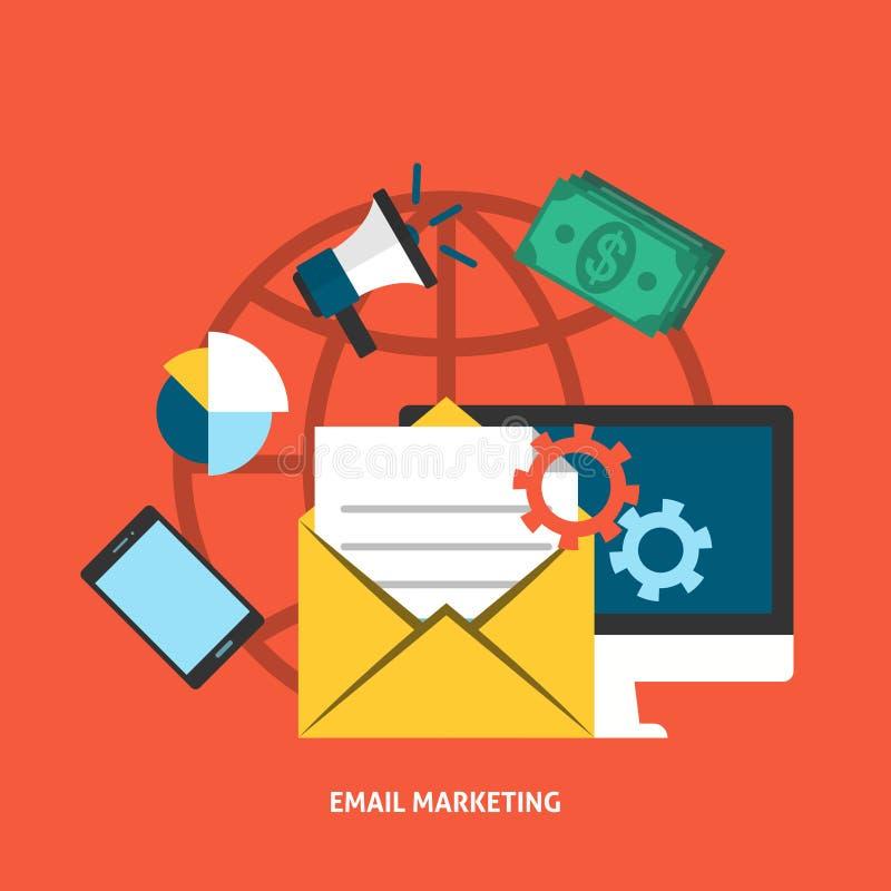 Έννοια ηλεκτρονικού ταχυδρομείου Makreting απεικόνιση αποθεμάτων