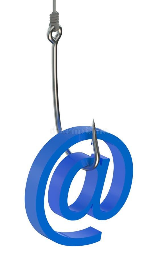 Έννοια ηλεκτρονικού ταχυδρομείου Phishing διανυσματική απεικόνιση