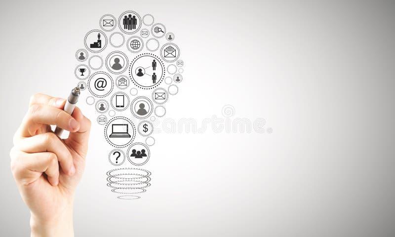 Έννοια ιδέας και επικοινωνίας στοκ εικόνα με δικαίωμα ελεύθερης χρήσης