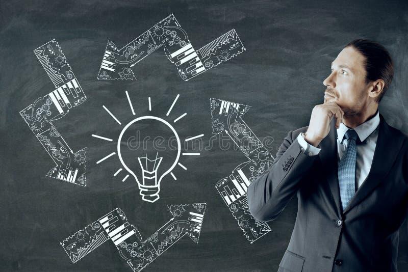 Έννοια ιδέας και επιτυχίας στοκ εικόνες