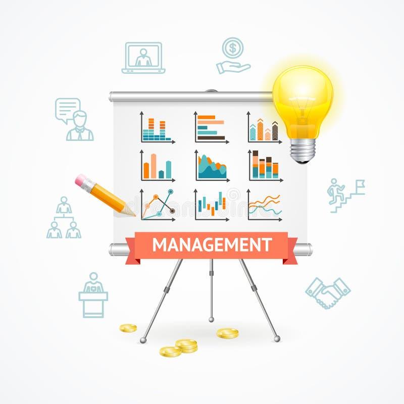 Έννοια διοίκησης επιχειρήσεων διάνυσμα απεικόνιση αποθεμάτων