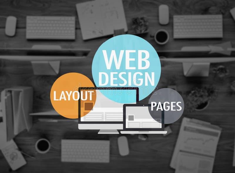 Έννοια ιστοχώρου WWW ανάπτυξης σελίδων σχεδιαγράμματος σχεδίου Ιστού στοκ φωτογραφία με δικαίωμα ελεύθερης χρήσης