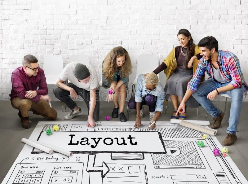 Έννοια Ιστού σχεδίου ιστοχώρου προτύπων σχεδιαγράμματος στοκ εικόνα