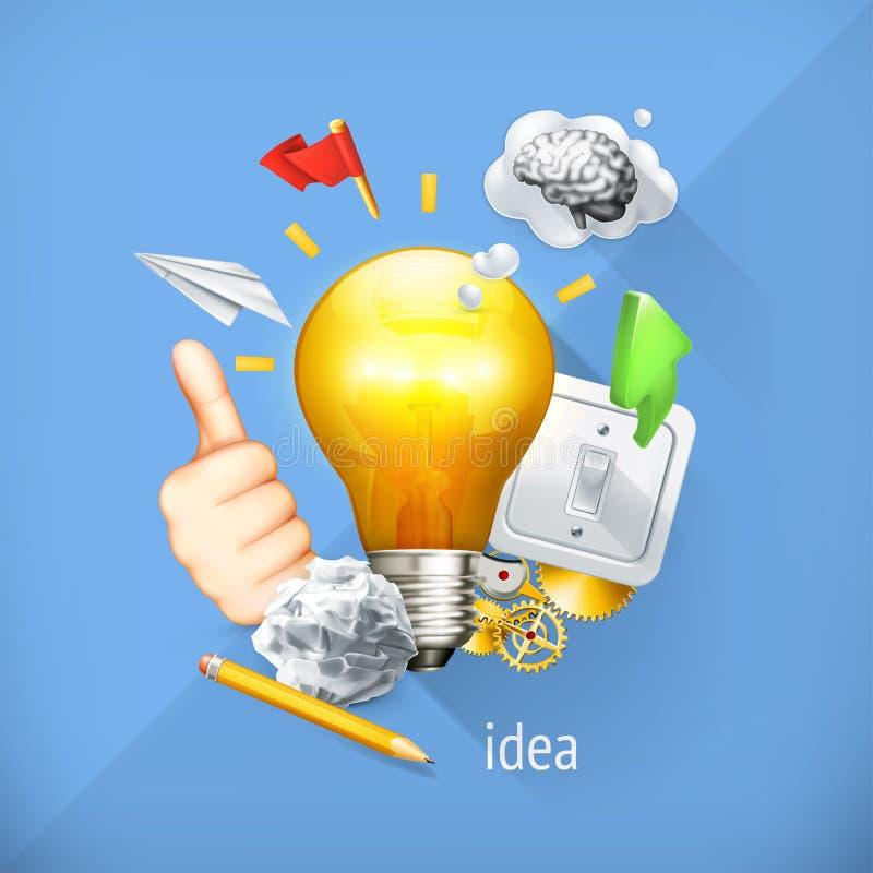 Έννοια ιδέας, διανυσματική απεικόνιση απεικόνιση αποθεμάτων
