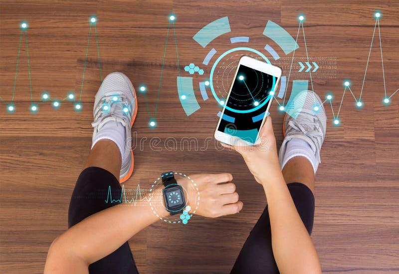 Έννοια καινοτομίας Wellness υγειονομικής περίθαλψης τεχνολογίας ικανότητας διανυσματική απεικόνιση