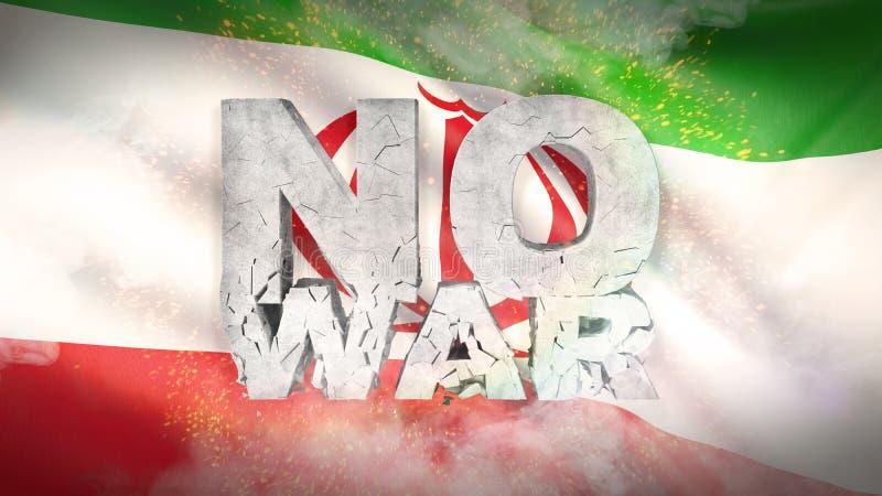 έννοια κανένας πόλεμος σημαία Ιράν Κυματισμένη ιδιαίτερα λεπτομερής σύσταση υφάσματος τρισδιάστατη απεικόνιση στοκ εικόνες με δικαίωμα ελεύθερης χρήσης