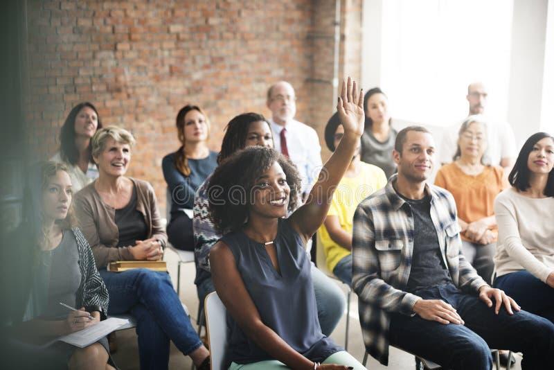 Έννοια κατάρτισης σεμιναρίου συνεδρίασης της επιχειρησιακής ομάδας στοκ φωτογραφία