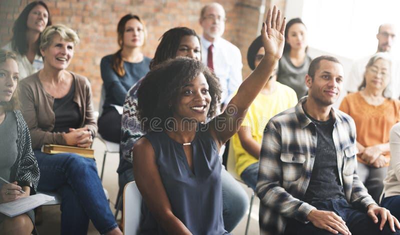 Έννοια κατάρτισης σεμιναρίου συνεδρίασης της επιχειρησιακής ομάδας στοκ εικόνα