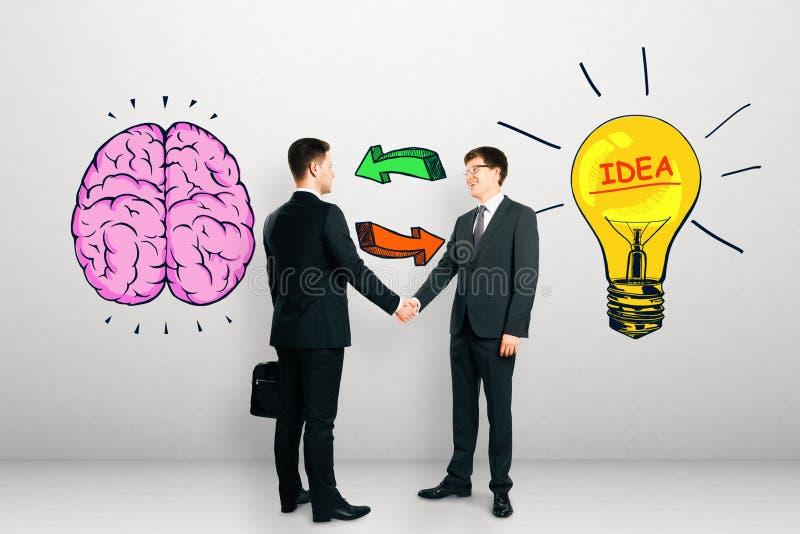 Έννοια καταιγισμού ιδεών, ομαδικής εργασίας και καινοτομίας στοκ εικόνα