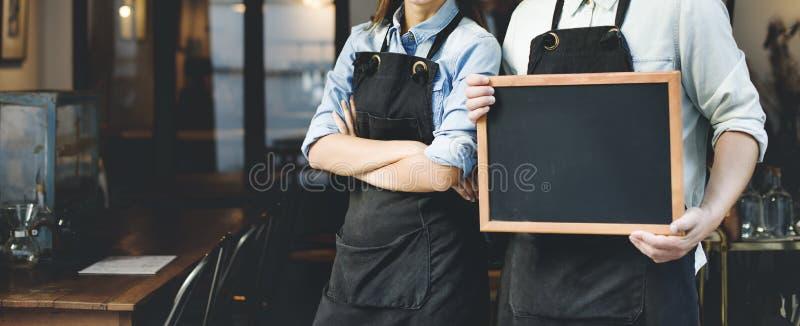 Έννοια καφετεριών εργασίας προσωπικού Barista στοκ εικόνα