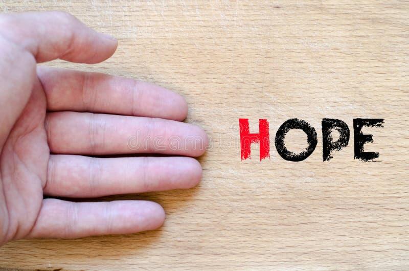 Έννοια κειμένων ελπίδας στοκ εικόνες