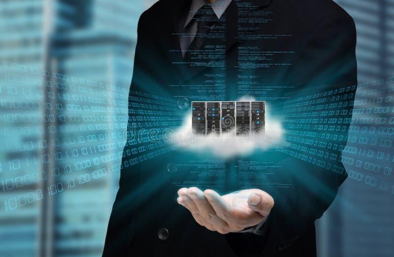 Έννοια κεντρικών υπολογιστών σύννεφων
