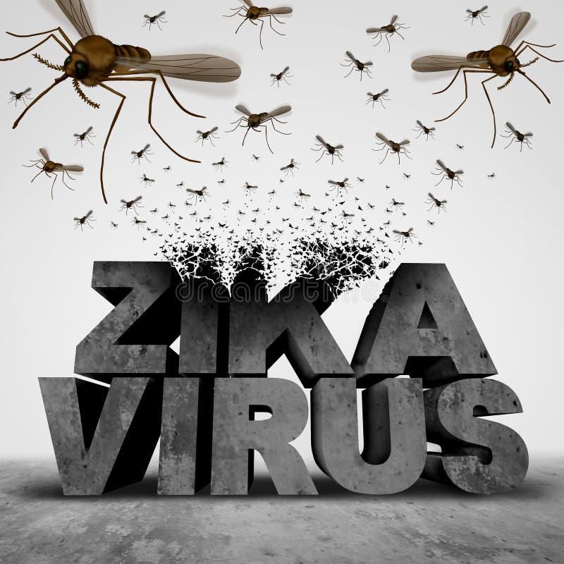 Έννοια κινδύνου ιών Zika απεικόνιση αποθεμάτων