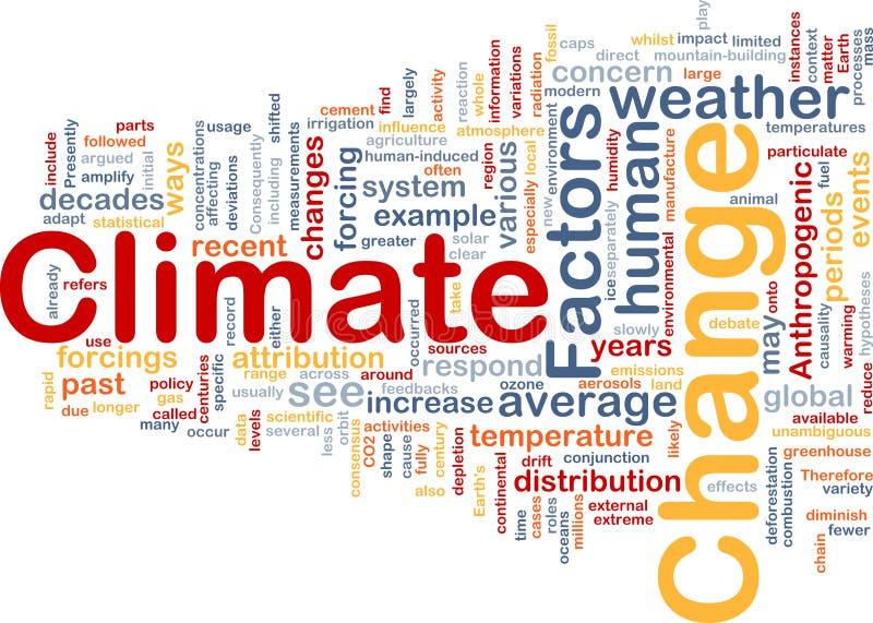 έννοια κλίματος αλλαγής & απεικόνιση αποθεμάτων