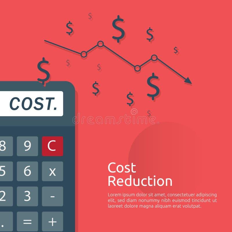έννοια κρίσης επιχειρησιακής χρηματοδότησης διαχείριση μείωσης του κόστους πτώση γραφικών παραστάσεων χρημάτων μείωσης γραμμών βε ελεύθερη απεικόνιση δικαιώματος