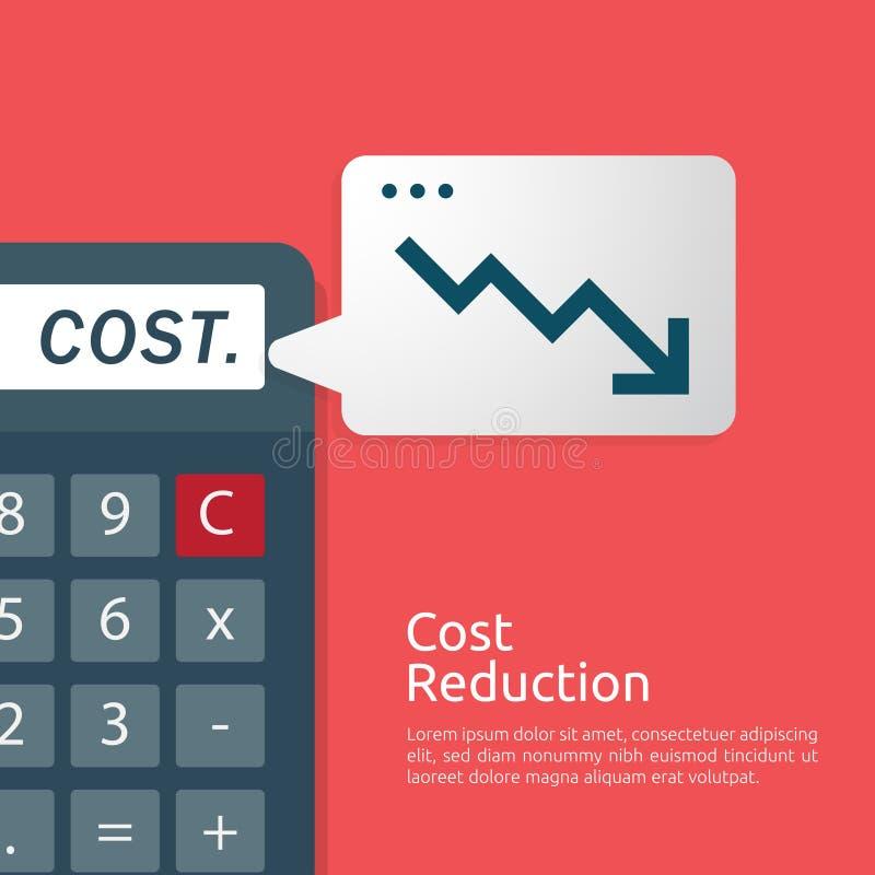 έννοια κρίσης επιχειρησιακής χρηματοδότησης διαχείριση μείωσης του κόστους πτώση γραφικών παραστάσεων χρημάτων μείωσης γραμμών βε διανυσματική απεικόνιση